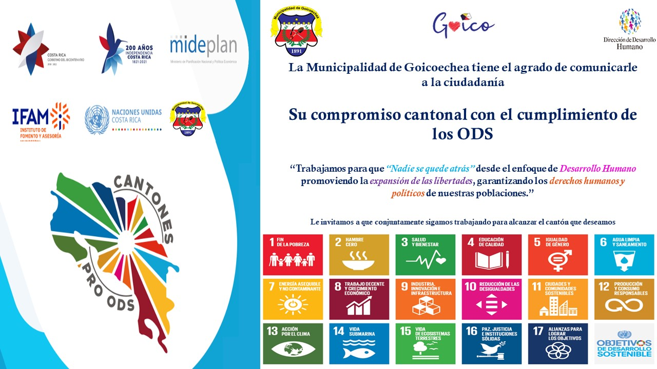 Lee más sobre el artículo Municipalidad de Goicoechea será un cantón promotor de los Objetivos de Desarrollo Sostenible